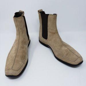 Hogan Tan Suede Short Boots Womens Size 7